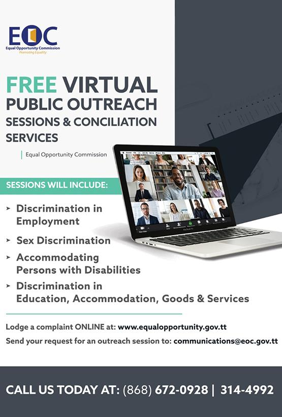Free Virtual Public Outreach Sessions & Conciliation Services
