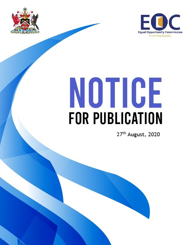 Notice for Publication August 2020